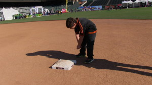 Second base at AT&T Park in San Francisco