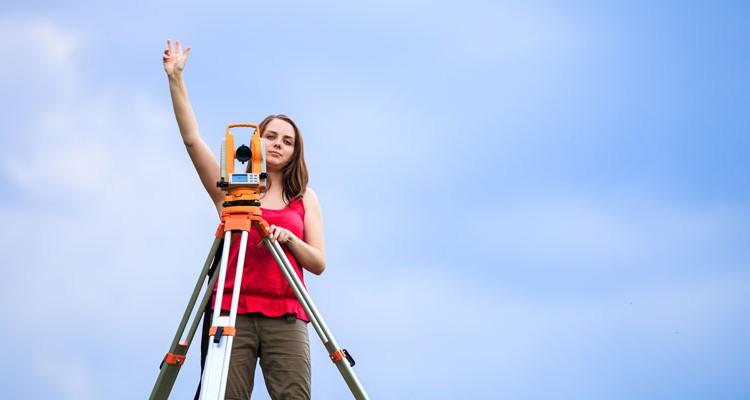 Woman-surveying