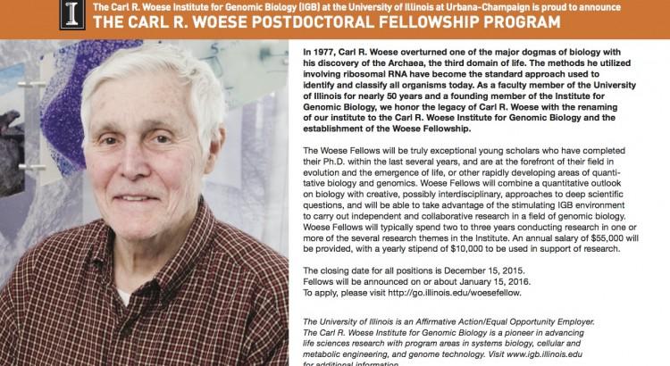 Woese Fellowship