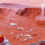 Using bacteria to do in situ construction of sorts on Earth and Mars