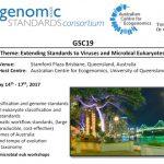 Genomic Standards Consortium 19 in Australia May 2017 registration open (focus on viruses & microbial euks)