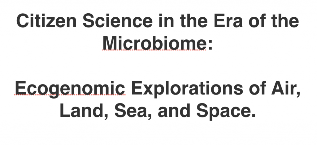 Recruiting editors : Citizen Science in Microbiology!