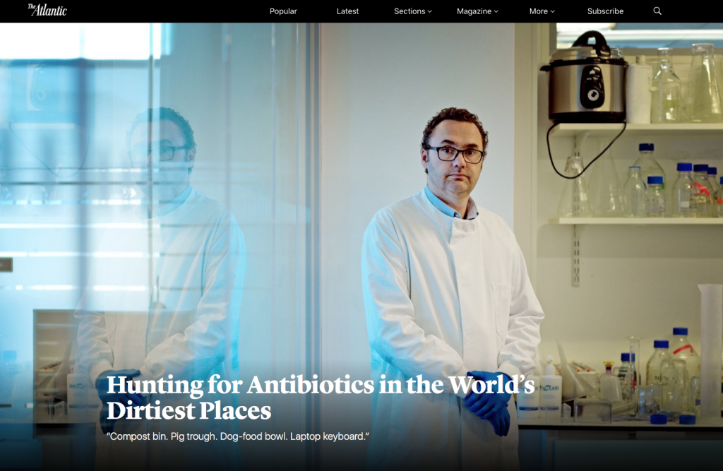 Great article by Maryn McKenna on the hunt for new antibiotics w/ crowdsourcing help