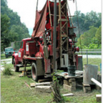 Water well drilling rig, West Virginia, USA. Source: Wikipedia.