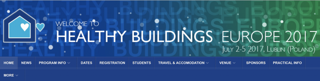 Sloan Foundation-funded workshops at Healthy Buildings Europe 2017